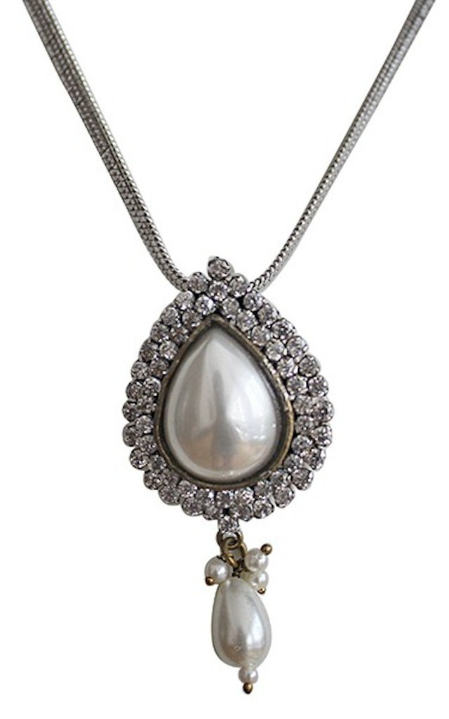 Pearl Drop Pendant Necklace by Taara Jewelry