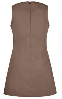 Pitch dress - khaki::Brown by Scarlett Black London Product photo