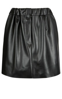 Ebony leather skirt by Scarlett Black London Product photo