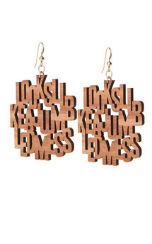 """looks like a jumbled mess"" earrings by Lili & Ida Product photo"
