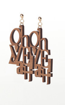 """oh yeah"" earrings by Lili & Ida Product photo"