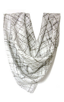 Voyager silk scarf by Hellen van Rees Product photo
