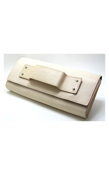 Nude leather clutch by Renush Product photo