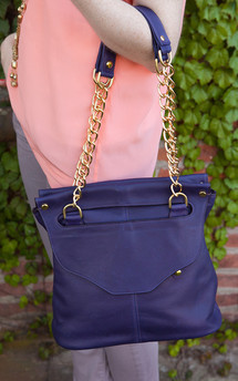 Lee shoulder bag- grape leather by Shana Luther Handbags Product photo