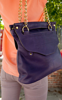 Lee shoulder bag- gray leather by Shana Luther Handbags Product photo