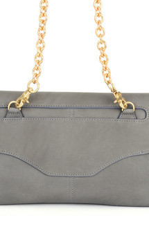 Marie clutch- gray leather by Shana Luther Handbags Product photo