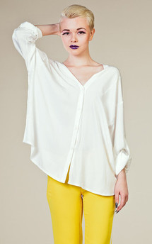 Basic shirt white by LAZY TWINS Product photo