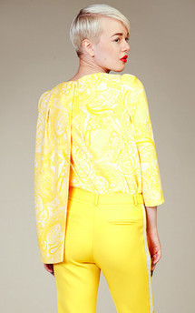 Yellow trousers with side line by LAZY TWINS Product photo