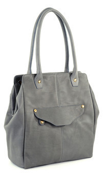William tote- gray leather by Shana Luther Handbags Product photo