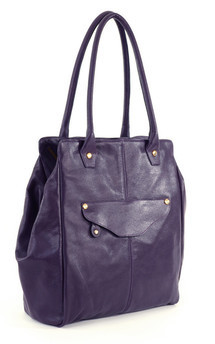 William tote- grape leather by Shana Luther Handbags Product photo