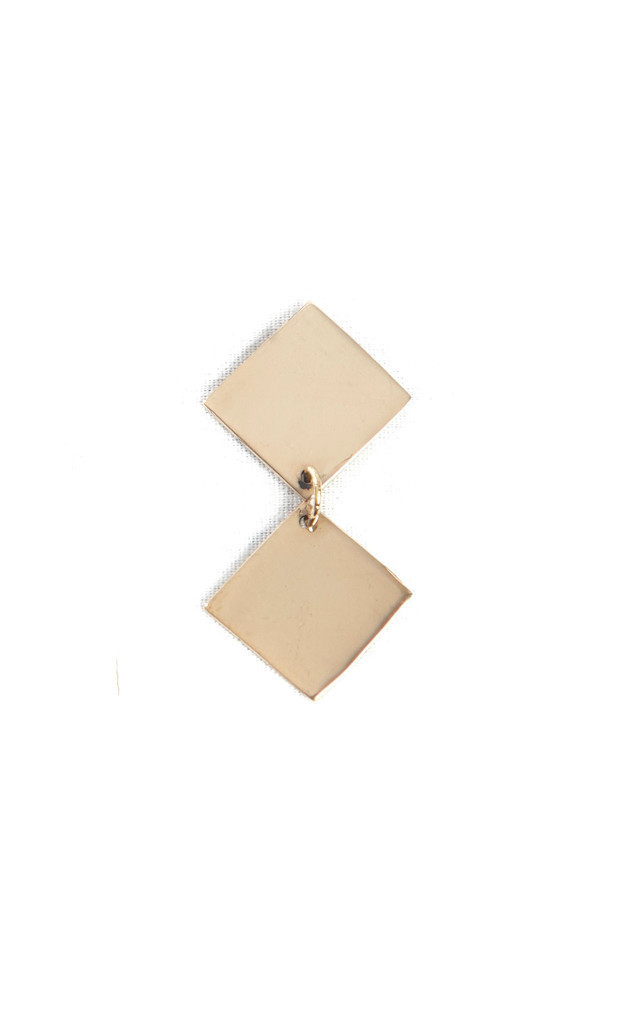 Small Square Dangle Earrings by Bare Collection