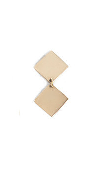 Small square dangle earrings by Bare Collection Product photo