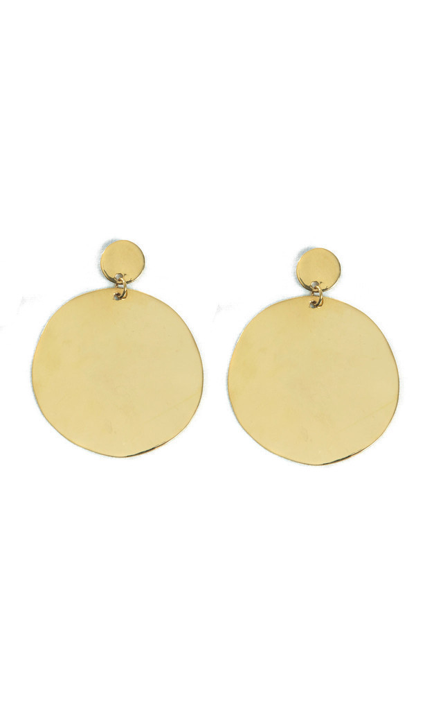 Large Circle Dangle Earrings by Bare Collection