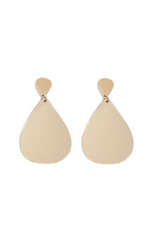 Large teardrop dangle earrings by Bare Collection Product photo
