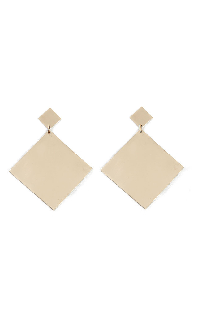 Large Square Dangle Earrings by Bare Collection