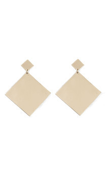 Large square dangle earrings by Bare Collection Product photo
