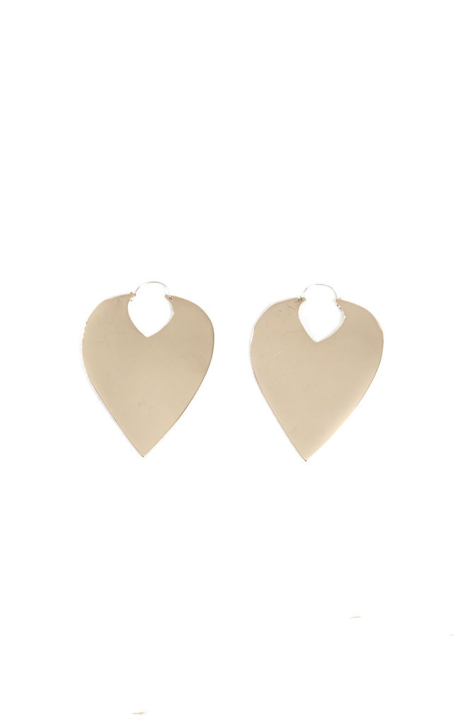 Teardrop Hoop Earring by Bare Collection