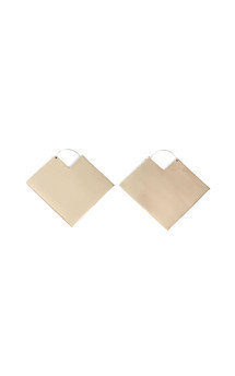 Square hoop earring by Bare Collection Product photo