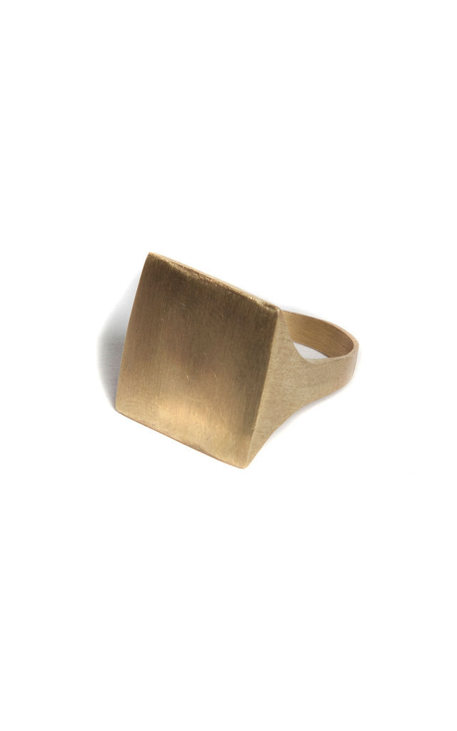 Square Point Ring by Bare Collection