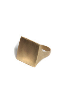 Square point ring by Bare Collection Product photo