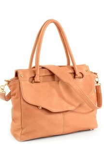 Louie satchel- camel leather by Shana Luther Handbags Product photo