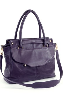 Louie satchel- grape leather by Shana Luther Handbags Product photo