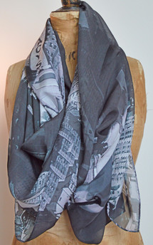 Forest. scarf (gray) by Life + liberty. Product photo