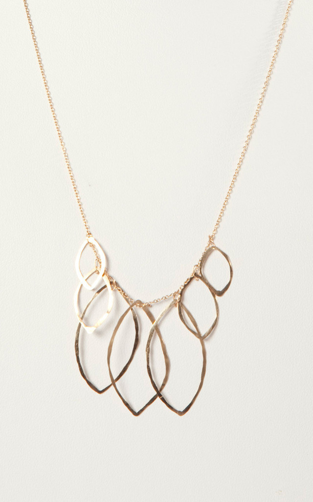 Multi Leaves Necklace by Bare Collection