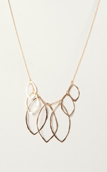 Multi leaves necklace by Bare Collection Product photo
