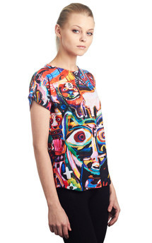 Cat land - printed top by Due. Product photo