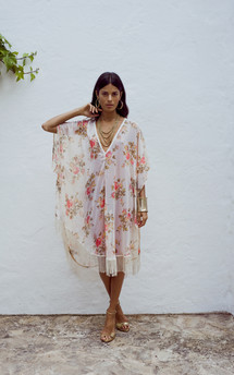Tassle kaftan in vanilla floral by Dancing Leopard Product photo