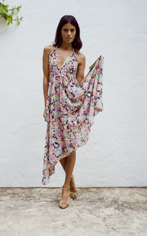 Boho maxi in pink floral by Dancing Leopard Product photo