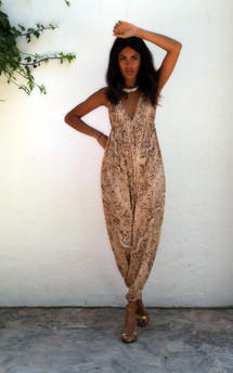 Genie jumpsuit in ginger snake - out of stock by Dancing Leopard Product photo