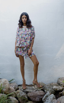 Ibiza dress in pink floral  by Dancing Leopard Product photo