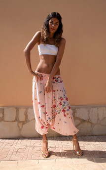 Magic genie pants in pink floral by Dancing Leopard Product photo