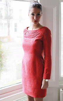 Red silk dress by Etrala London Product photo