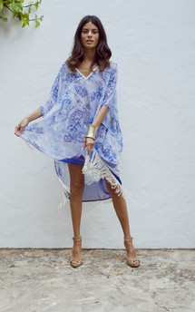 Tassle kaftan in blue paisley - sold out by Dancing Leopard Product photo