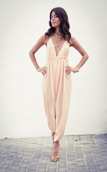 Genie jumpsuit in light peach  by Dancing Leopard Product photo