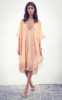 Tassle kaftan in peach by Dancing Leopard Product photo