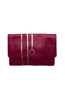 Hyde park in cherry red leather by Torula Bags Product photo
