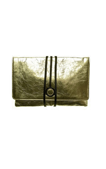 Hyde park in gold leather by Torula Bags Product photo
