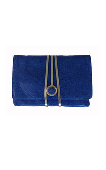Hyde park in blue stingray leather by Torula Bags Product photo