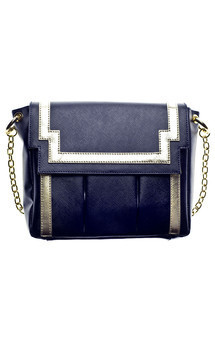 Chinatown in navy blue leather by Torula Bags Product photo