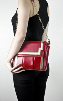 Chinatown in red leather by Torula Bags Product photo