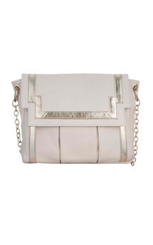 Chinatown in white leather by Torula Bags Product photo