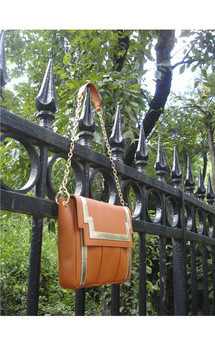 Chinatown in rusty orange leather by Torula Bags Product photo