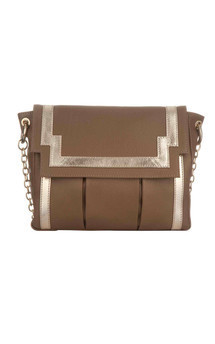 Chinatown in taupe leather by Torula Bags Product photo