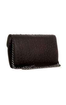 Bond street in black ostrich by Torula Bags Product photo