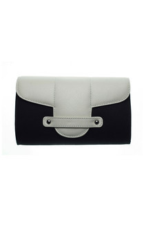 Bond street in black canvas and white leather by Torula Bags Product photo