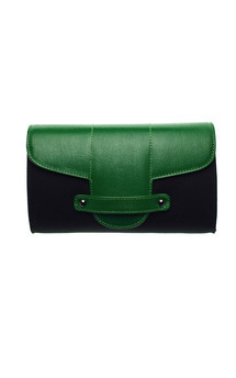 Bond street in black canvas and green leather by Emeline Coates Product photo